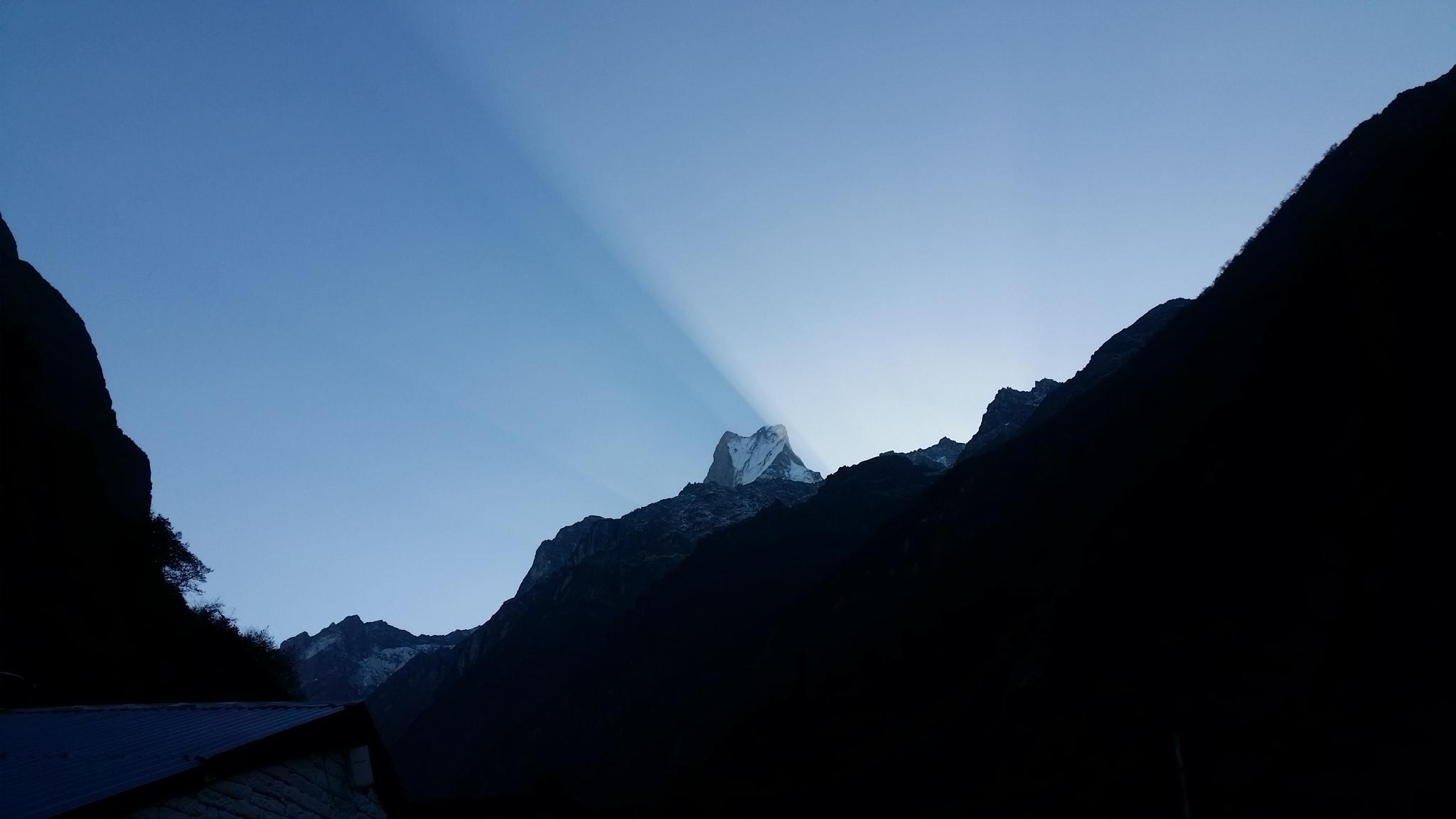Dovan pagi hari, Annapurna Basecamp trek