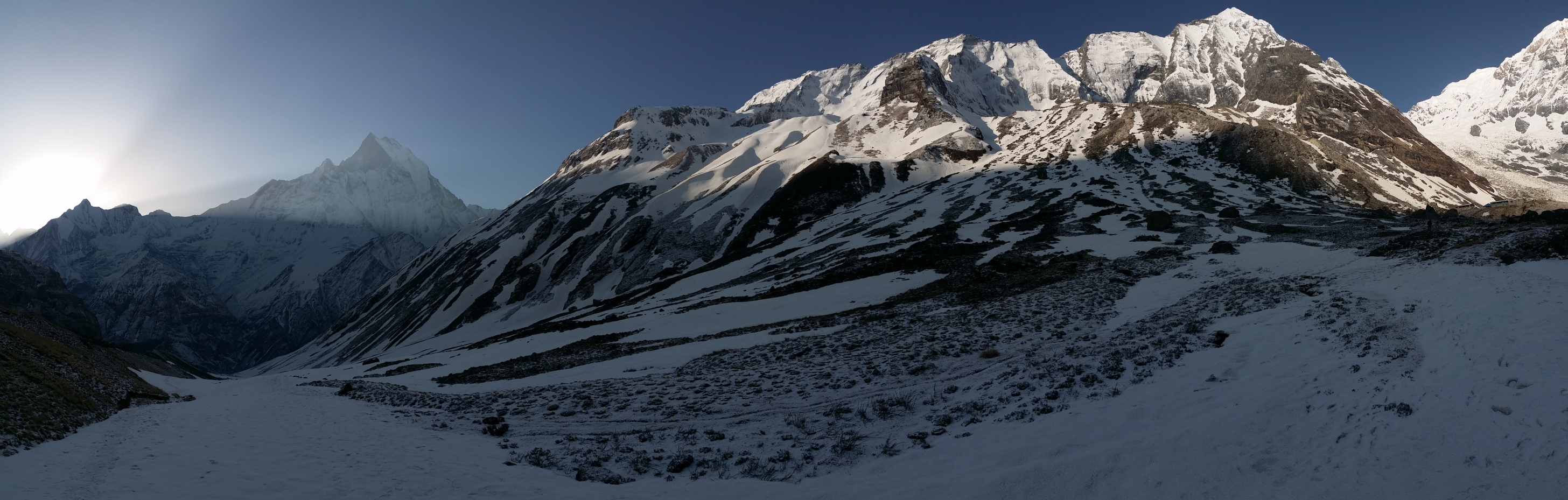 Sunrise Moment of Annapurna Basecamp
